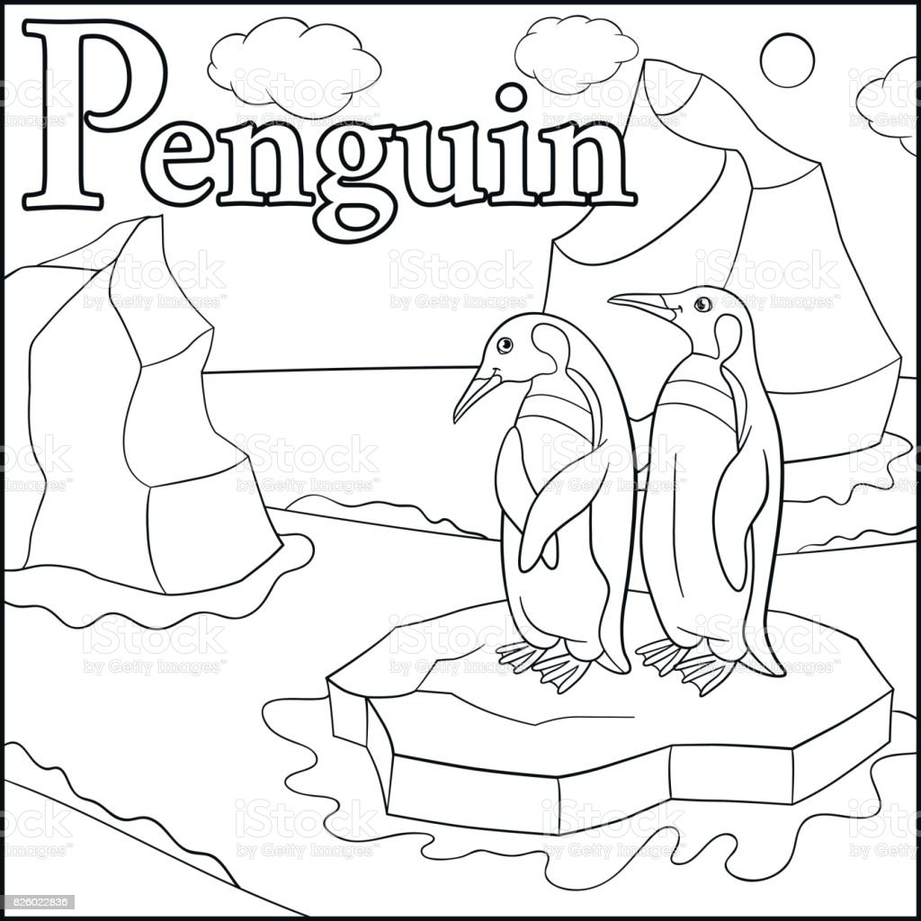 Arctic Russia Alphabet Animal Baby Coloring Page