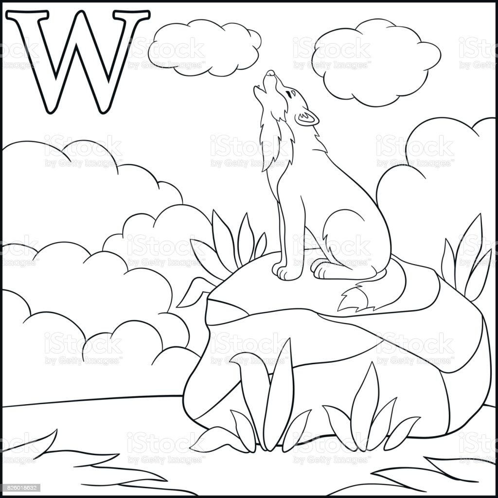 Animal Alphabet V Coloring Page Stock Vector - Illustration of ... | 1024x1024