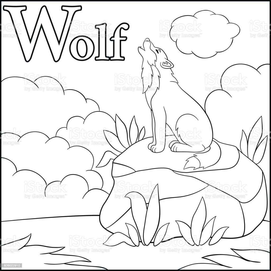 Kleurplaten Dieren Wolf Coloring And Drawing