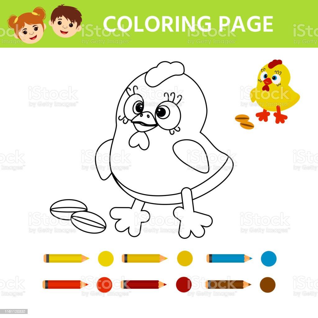 Ilustración De Página Para Colorear Dibujos Animados Lindo