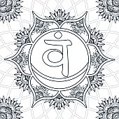 Coloring Page - Chakra 2 - Svadhishthana
