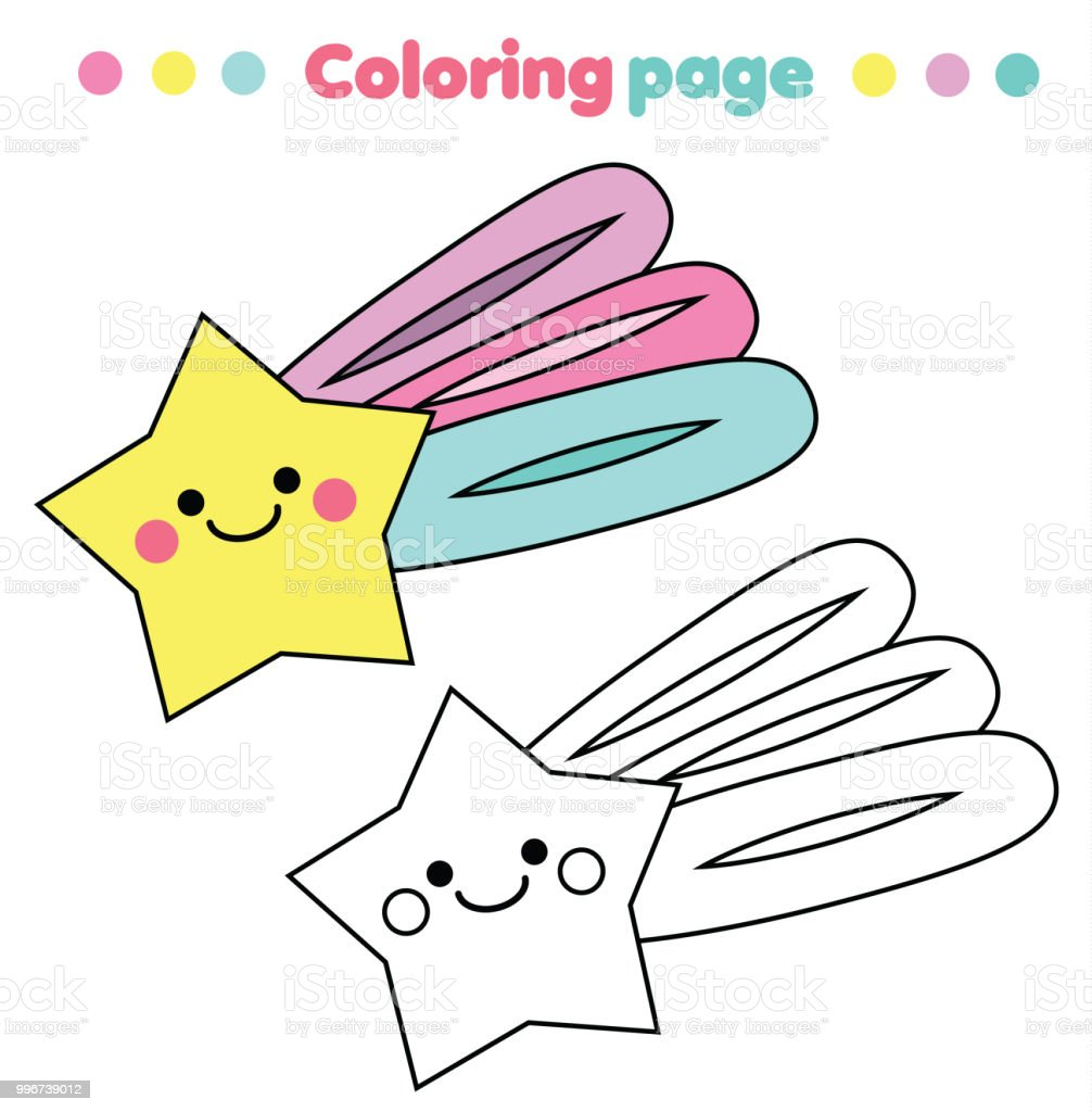 Coloring Page Educational Children Game Cute Star Drawing Kids Printable Activity Royalty