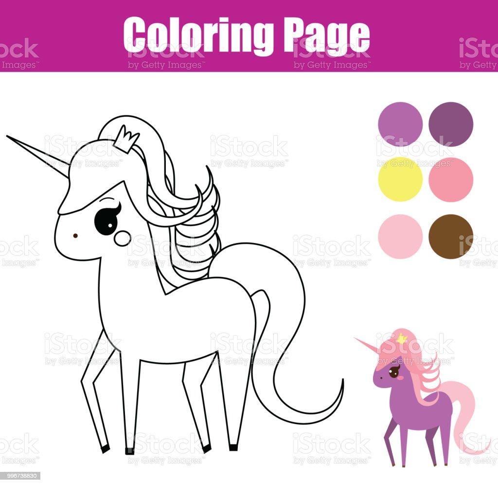 Ilustración de Página Para Colorear Juego Educativo De Los Niños ...