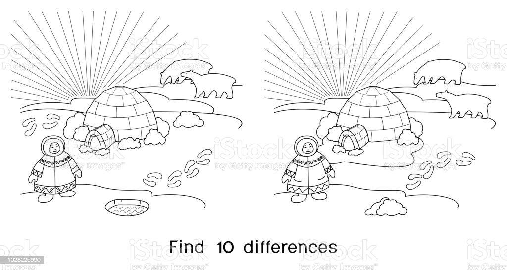 Coloriage Trouver Les 10 Differences Jeu Pour Les Enfants Avec Un