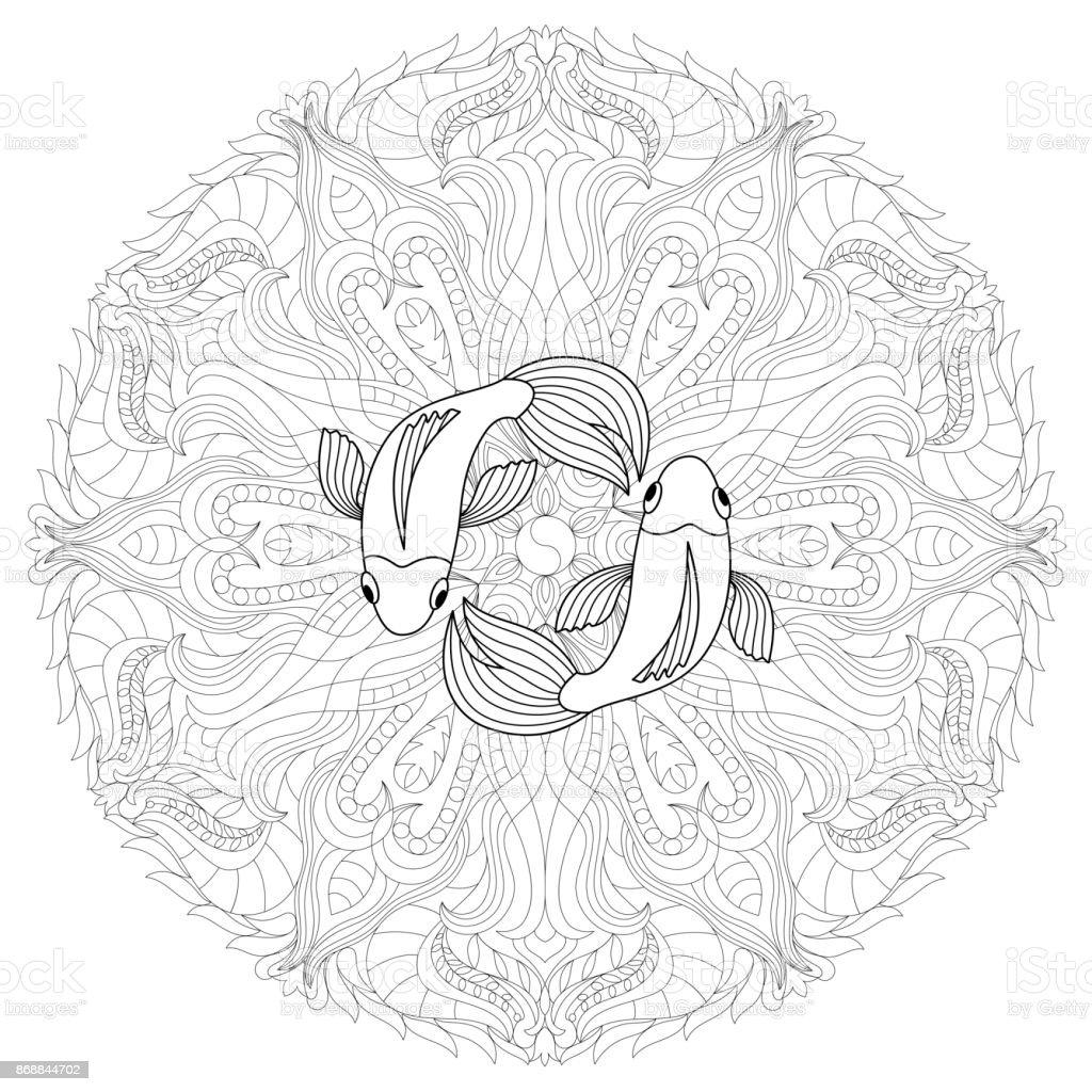Malvorlagen Für Erwachsene Nahtlose Muster Mit Zentangl Doodle