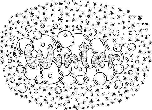 Kleurplaten Winter Mandala.Kleurplaat Voor Volwassenen Met Mandala En Winter Word