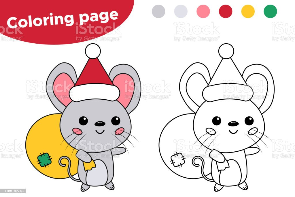 Coloring Page For Children Chinese New Year Symbol Rat Stock Illustration Download Image Now Istock