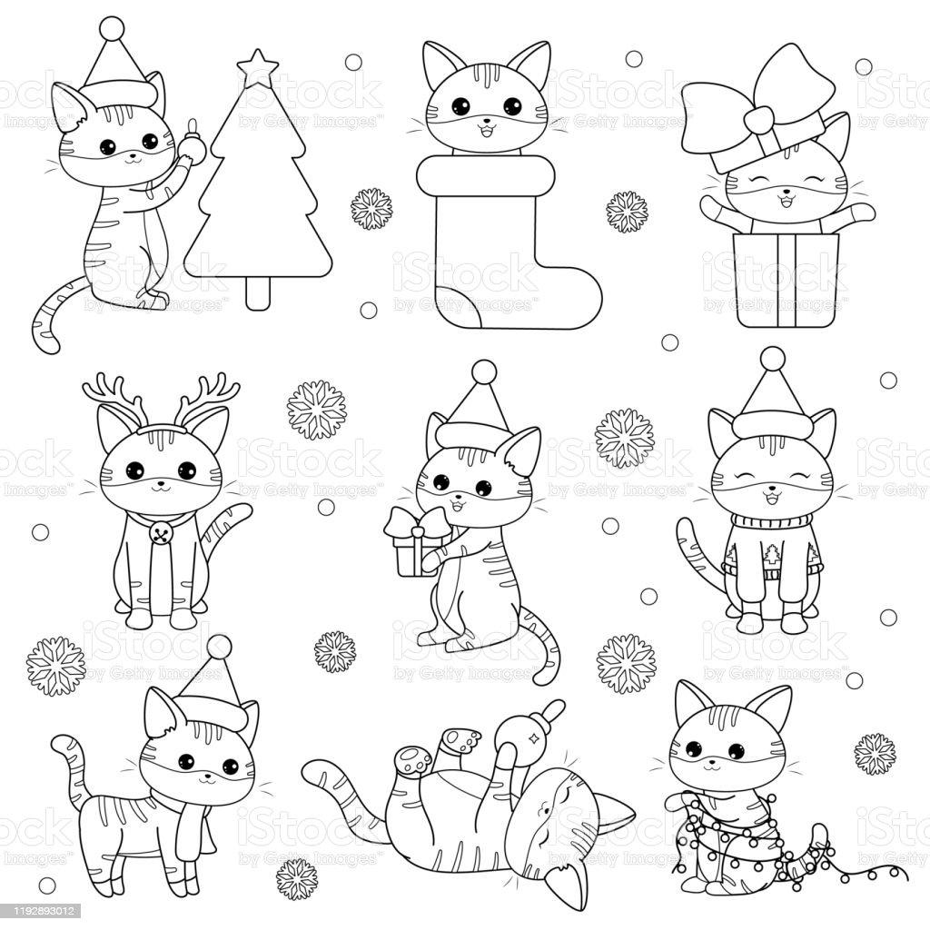 Page De Coloriage Pour Les Chats Kawaii Enfants Chatons Droles