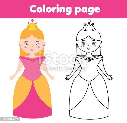 Malvorlagen Für Kinder Prinzessin Zeichnungkinderspiel Druckbare ...
