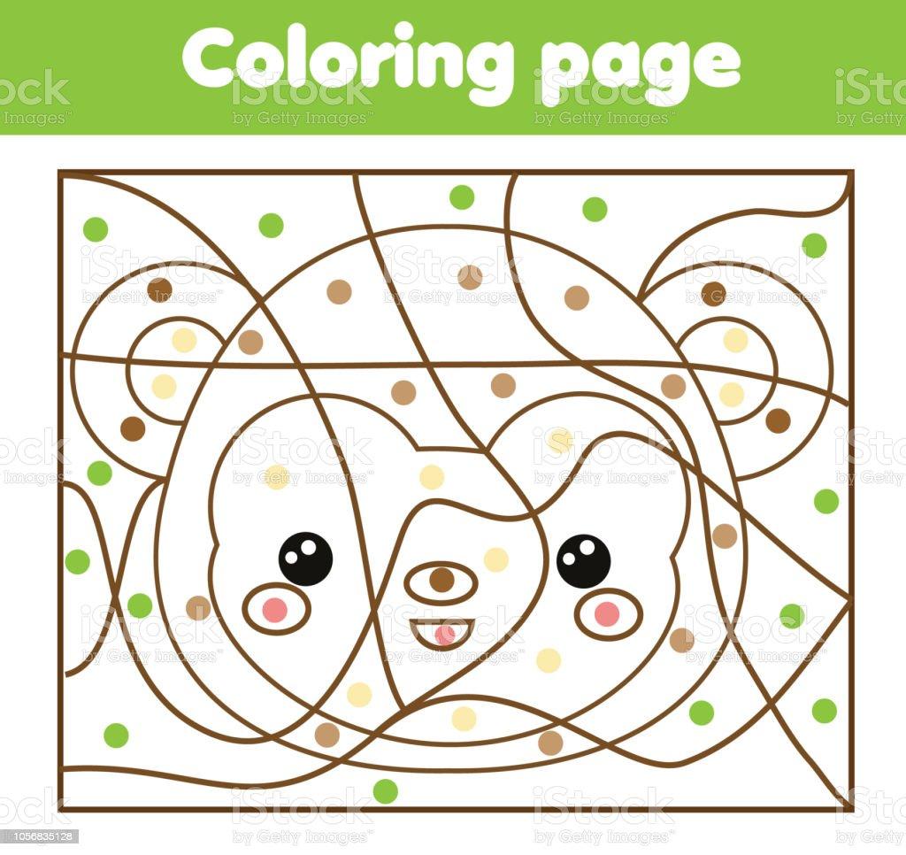 Malvorlagen Für Kinder Farbe Von Doys Affengesicht Stock Vektor