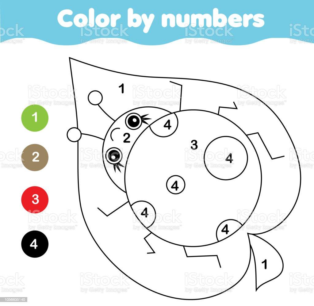 Coloriage Pour Les Enfants Couleur De Coccinelle De Numeros Vecteurs
