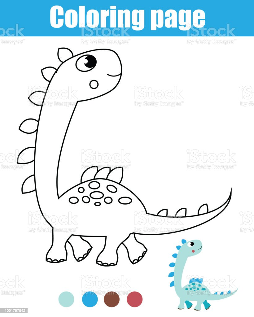 Malvorlagen Für Kinder Dinosaurier Stock Vektor Art Und Mehr Bilder