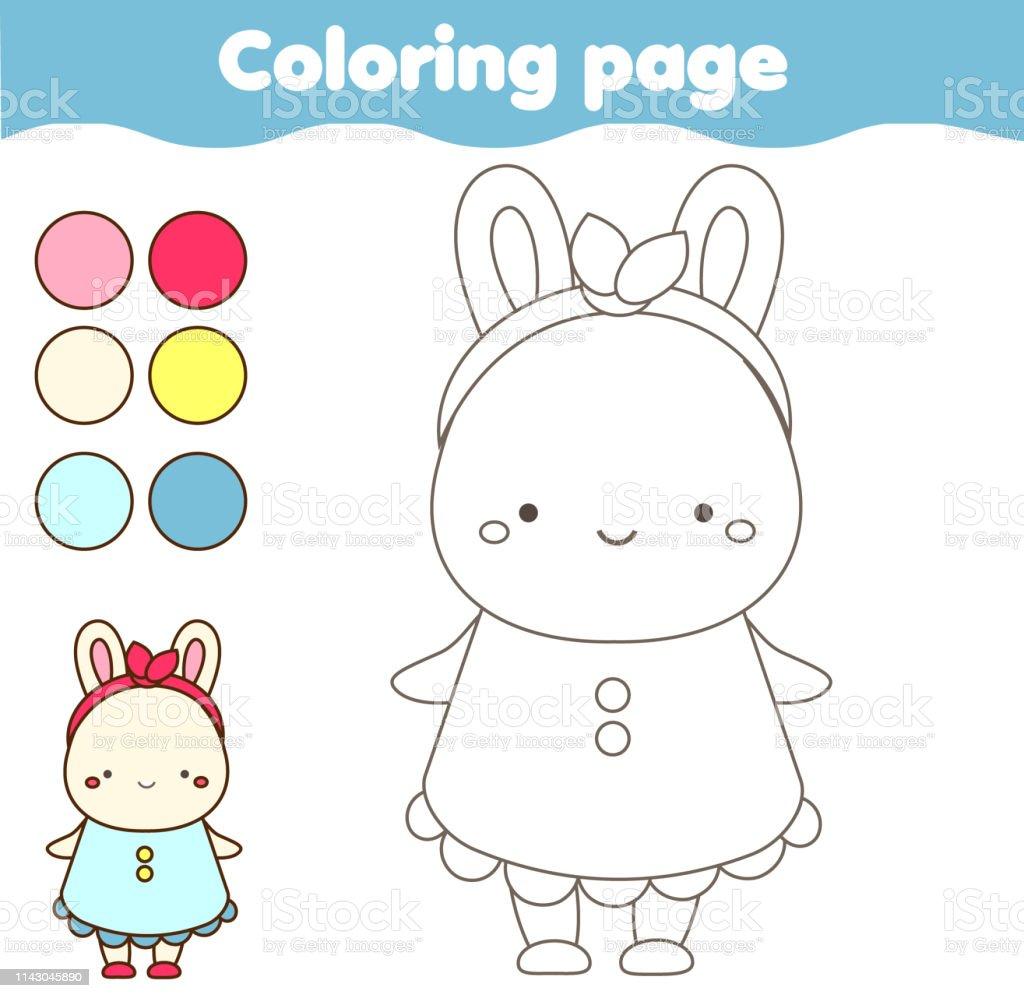 Bebekler Ve Cocuklar Icin Boyama Sayfasi Egitim Cocuk Oyunu Renk