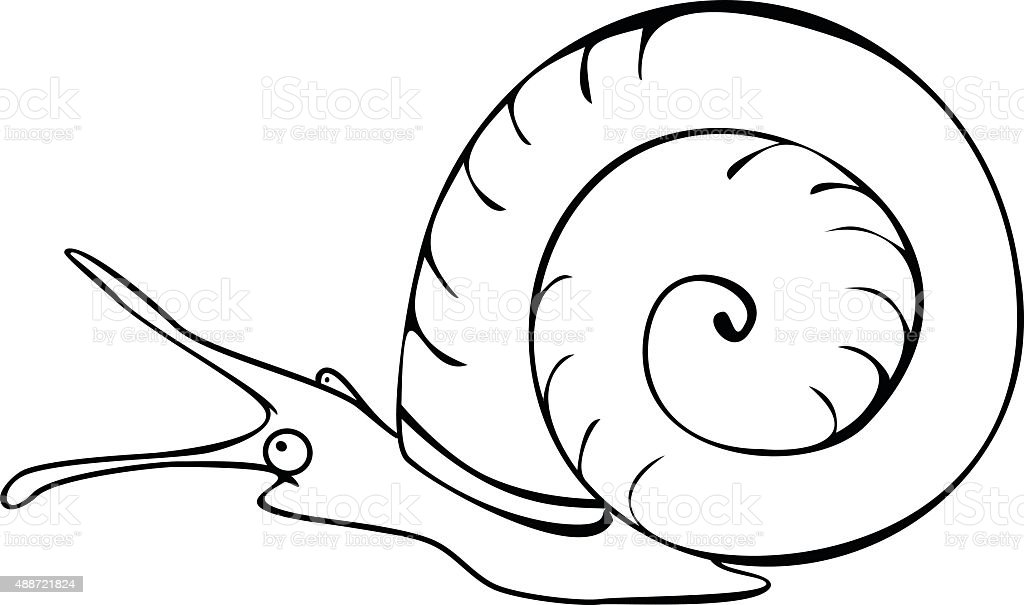 Coloring Page Freshwater Snail Stock Vector Art & More Images of ...