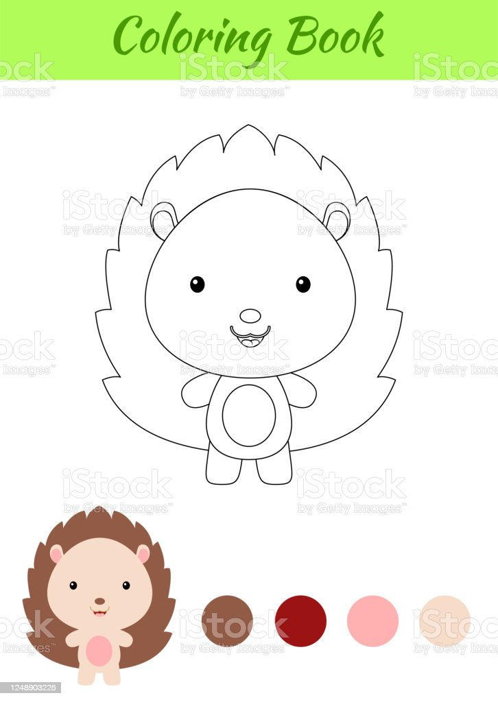 - Coloring Page Happy Little Baby Hedgehog Coloring Book For Kids Educational  Activity For Preschool Years Kids And Toddlers With Cute Animal Stock  Illustration - Download Image Now - IStock