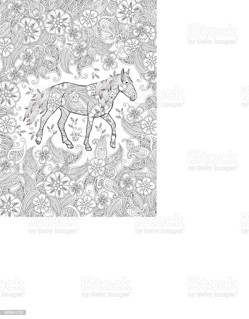 Ilustración de Página Para Colorear En Enredo Inspirado Estilo ...