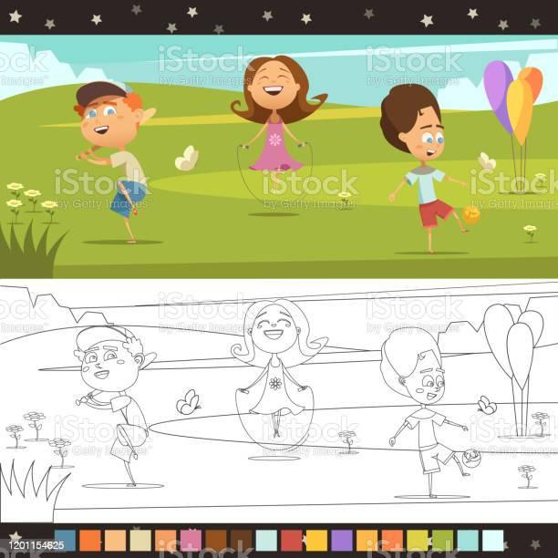 Coloring page kids vector id1201154625?b=1&k=6&m=1201154625&s=612x612&h=lhyidqkf7972zxrshriejgvumoz yecelnoifqa  wy=