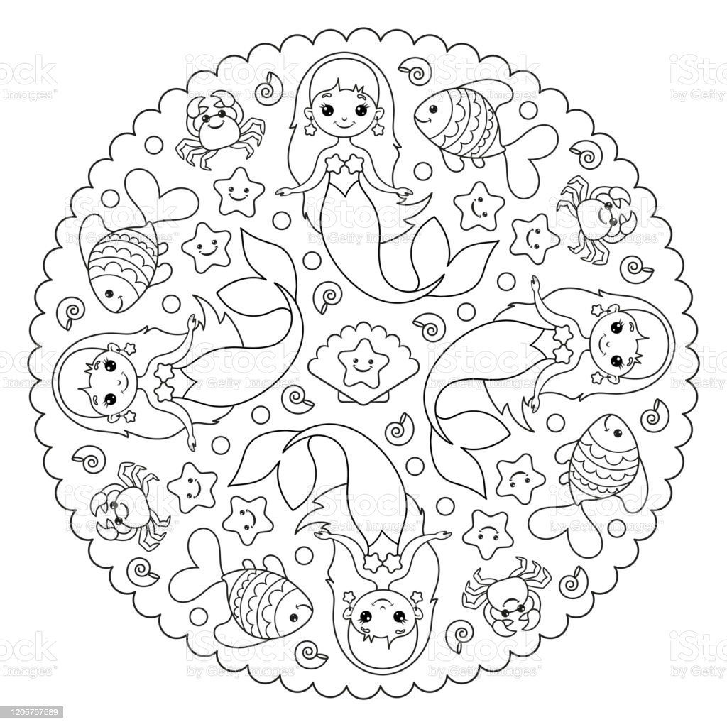 Download The Little Mermaid Free - Coloring Home | 1024x1024