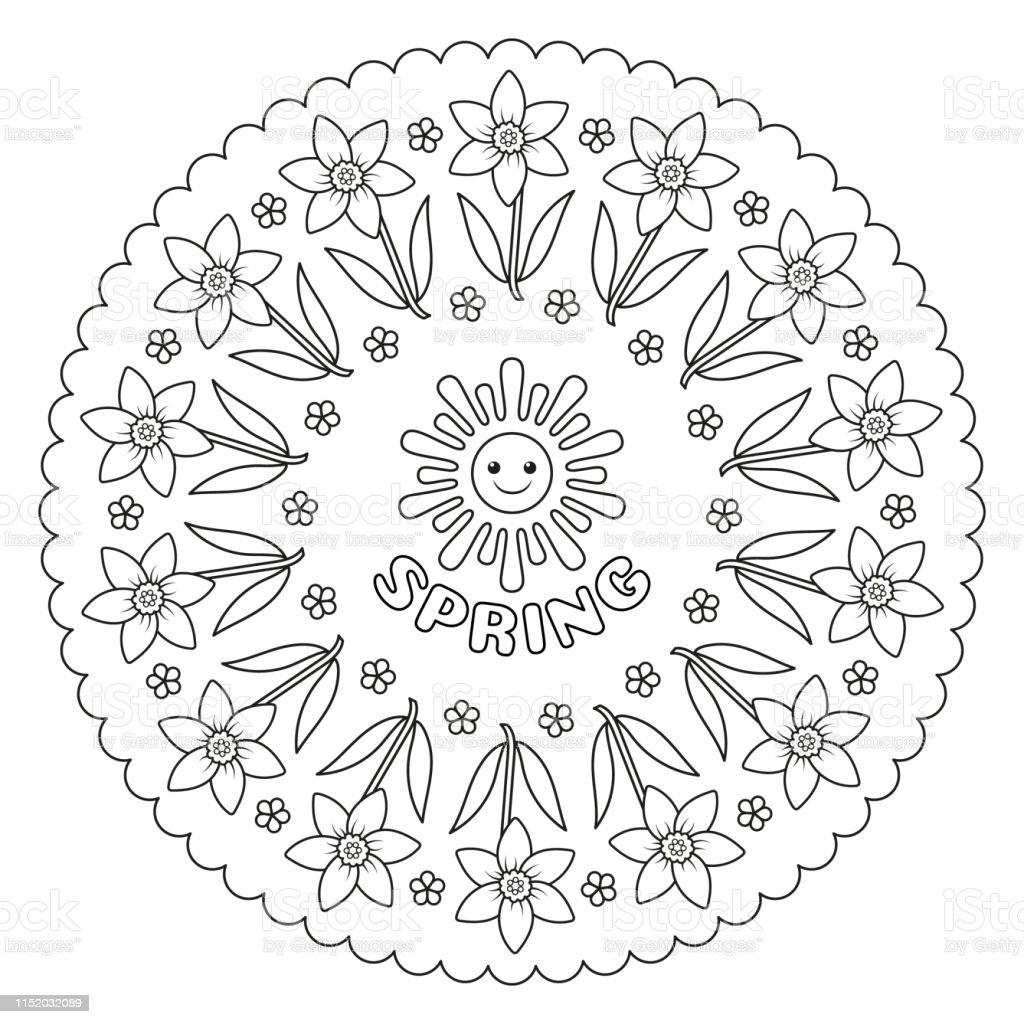 Astrological signs mandala - Mandalas Adult Coloring Pages | 1024x1024