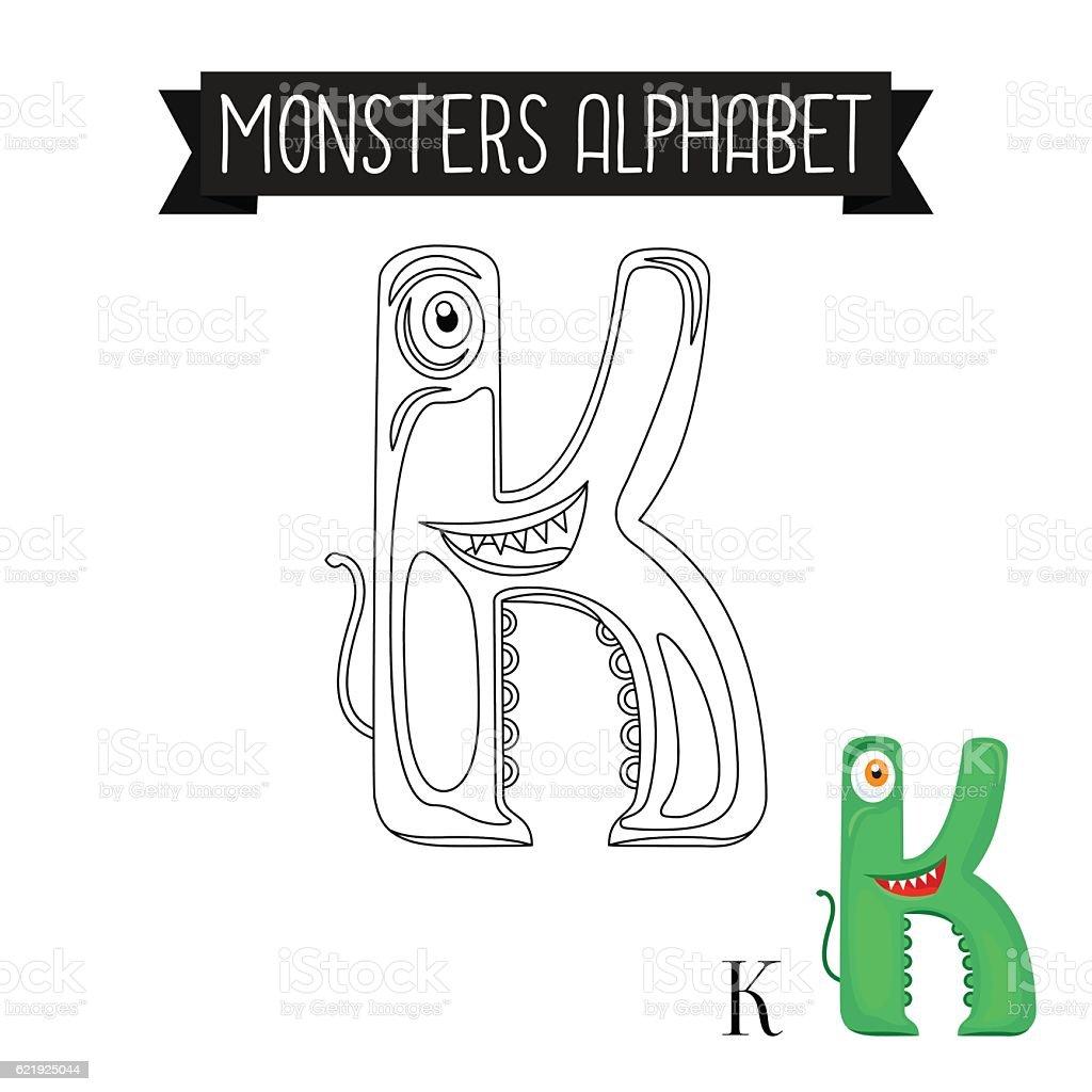 Alphabet Monster Coloring Pages | Education.com | 1024x1024