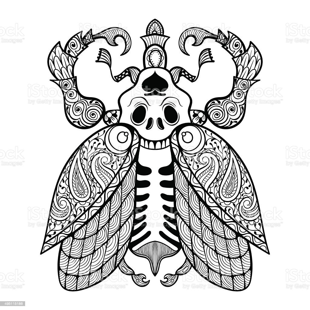 Animal, Bee, Beetle, Halloween, Insect. Coloring Page ...