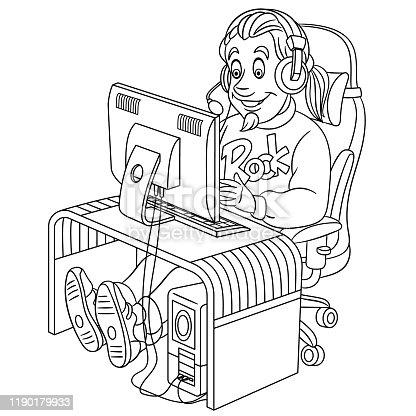 Boyama Kitabi Monitor Kertenkele Clip Art