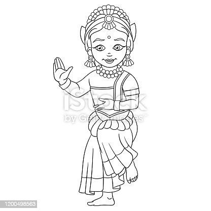 Big Image - Indian Folk Dance Drawing - Free Transparent PNG Clipart Images  Download