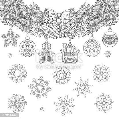 istock Libro de colorear de grupo de personajes de Navidad ...