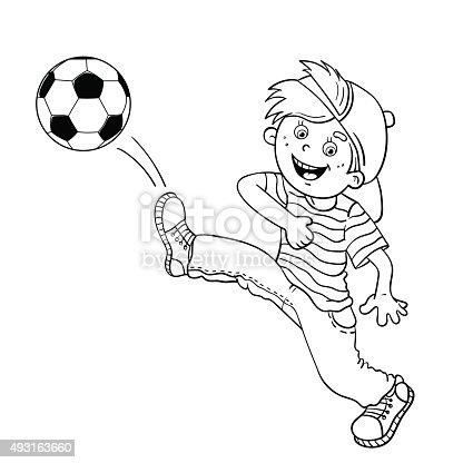 Ilustración De Para Colorear Página Descripción De Un Niño Gritando