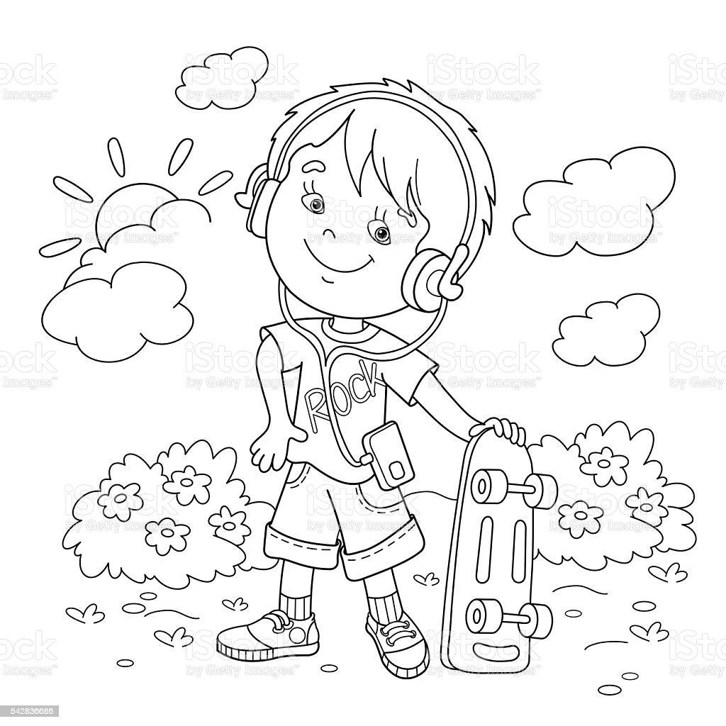Vetores De Esboco Dos Desenhos Animados Para Colorir Paginas De