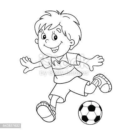 istock Para colorear página Descripción de un niño gritando una ...