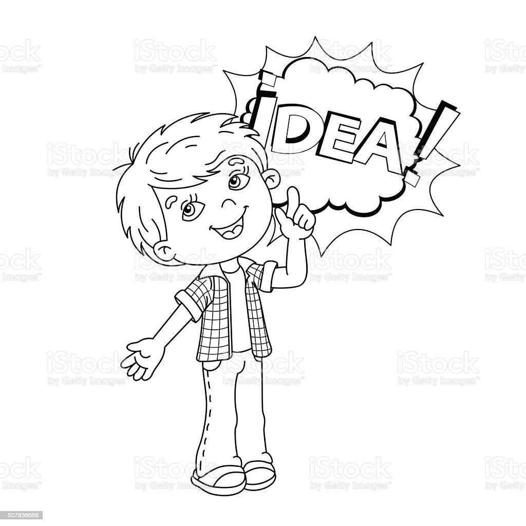 ilustração de esboço dos desenhos animados para colorir páginas de