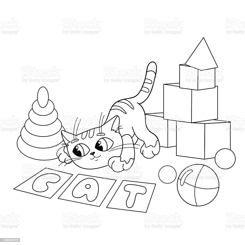 Ilustración De Página Para Colorear De Contorno De Dibujos Animados