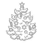 Free Download Of Christmas Tree Outline Vector Graphics And