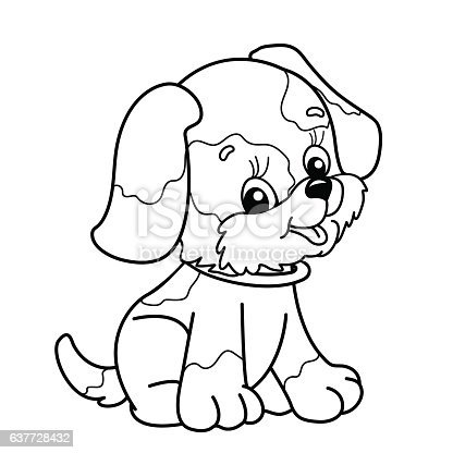 one direction coloring pages cartoon animals | Coloring Page Outline Of Cartoon Dog Stock Vector Art ...