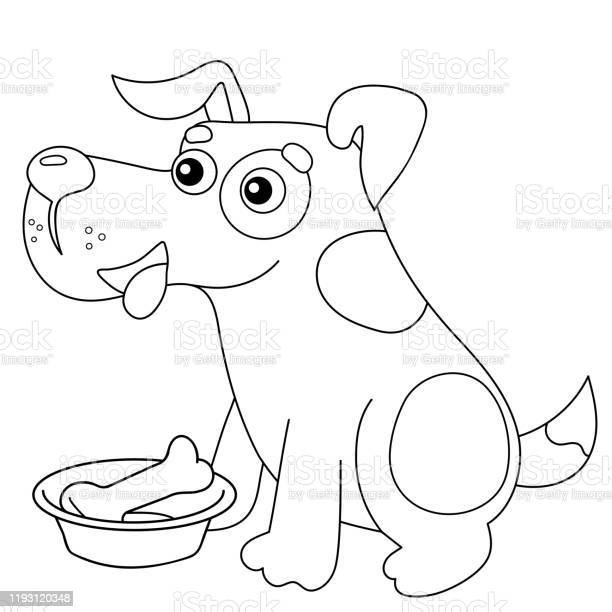 Coloring page outline of cartoon dog with bone pets coloring book for vector id1193120348?b=1&k=6&m=1193120348&s=612x612&h=839cv6pfwydtho9edo4dn9hcwtt0zeudrioctxxivf4=