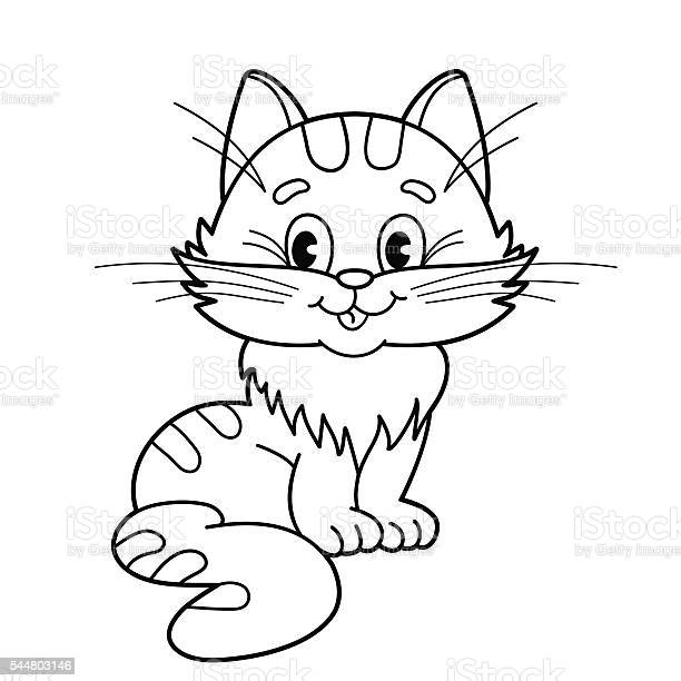 Coloring page outline of cartoon fluffy cat for kids vector id544803146?b=1&k=6&m=544803146&s=612x612&h=lbbuzfakelcpt0n7lrbjodlka5mb9apqzzce3hdi0 y=