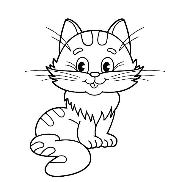1 325 Baby Kitten Coloring Pages Illustrations Clip Art Istock