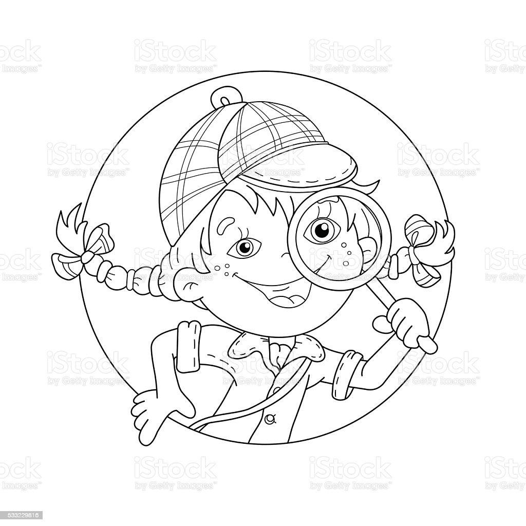 Ilustración De Página Para Colorear De Contorno De Dibujos
