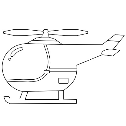 Coloring Page Outline Of Cartoon Helicopter Images Of Transport For Children Vector Coloring Book For Kids Stock Illustration Download Image Now Istock