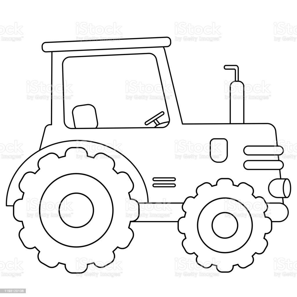 Page De Coloriage Dapercu Du Tracteur De Dessin Anime Transport Livre A Colorier Pour Les Enfants Vecteurs Libres De Droits Et Plus D Images Vectorielles De Activite Istock