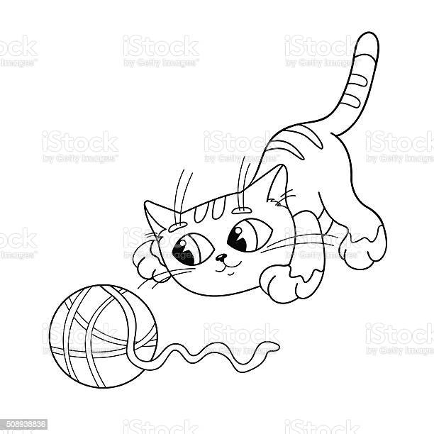Coloring page outline of cat playing with ball of yarn vector id508938836?b=1&k=6&m=508938836&s=612x612&h=z6qfint bga5jlylyg7mpux5dvz hh1axywt4iwxvmq=