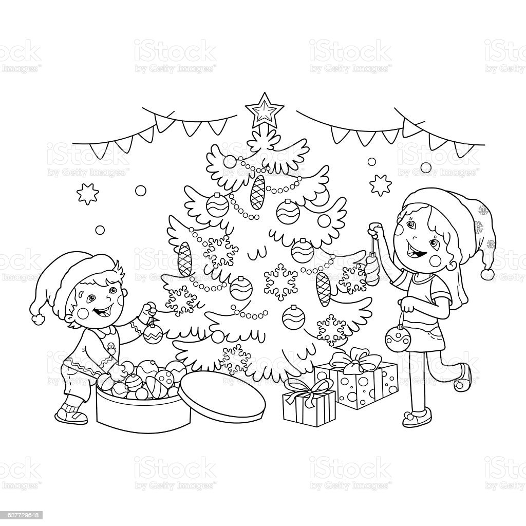 decorated kids coloring pages - photo#13