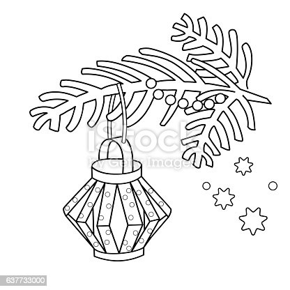 Coloring Page Outline Of Christmas Decoration Paper