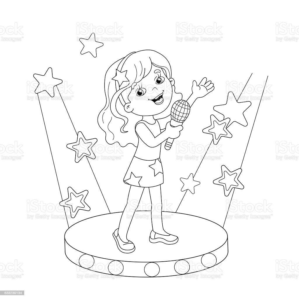 child singing coloring pages - photo#7