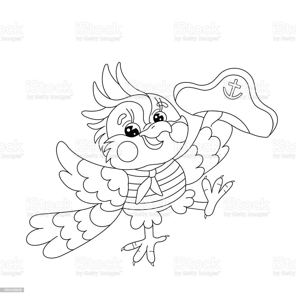 Pagina da colorare sagoma di gioia da marinaio pappagallo pagina da  colorare sagoma di gioia da 647532b3c6ba