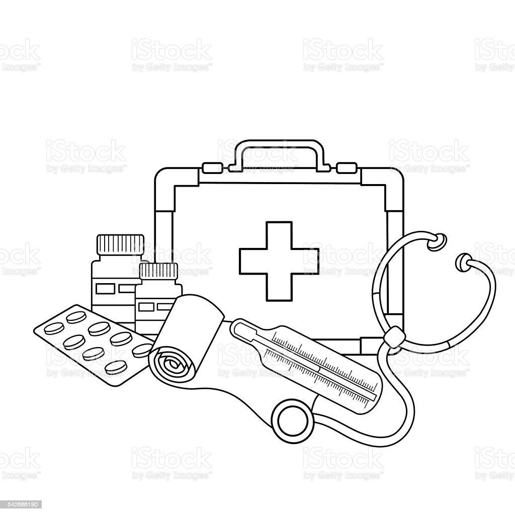 очертание раскраски медицинских документов медицинские