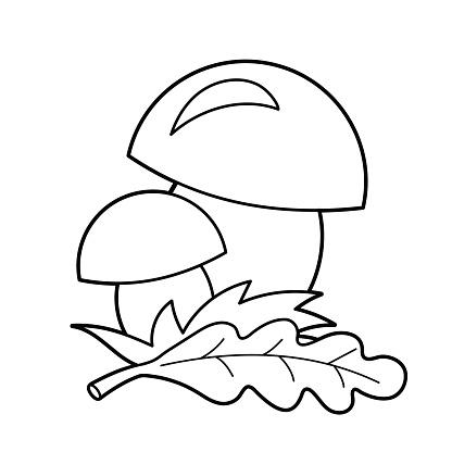 Pagina Da Colorare Di Funghi Libro Da Colorare Per I Bambini Immagini Vettoriali Stock E Altre Immagini Di Colorare Istock