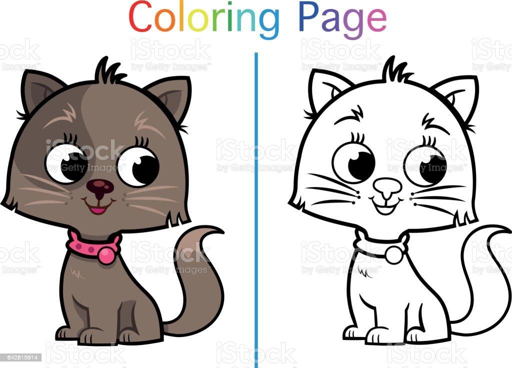 Boyama Sayfası Stok Vektör Sanatı Animasyon Karakternin Daha