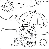 Coloring page (Summer concept)